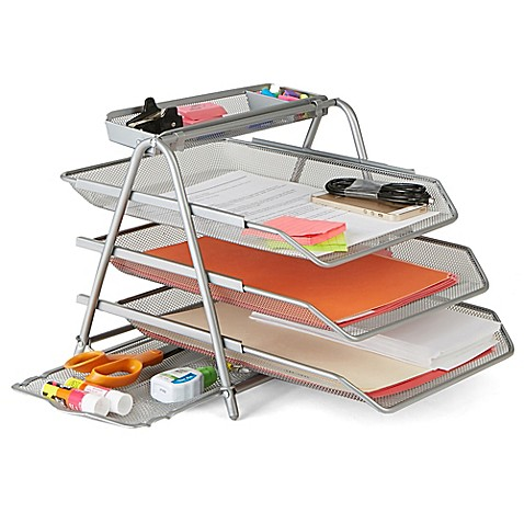 Mind Reader 3-Tier Metal Mesh File Tray at Bed Bath & Beyond in Cypress, TX   Tuggl