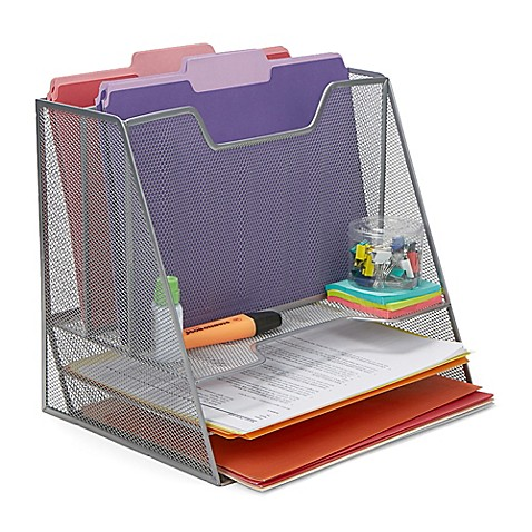 Mind Reader 5-Compartment Mesh Desk Storage Organizer at Bed Bath & Beyond in Cypress, TX | Tuggl