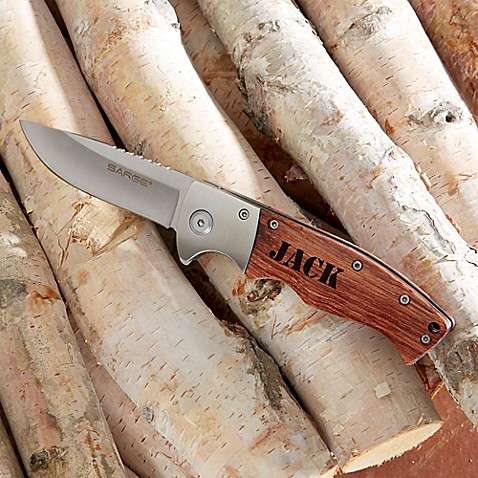Sarge Outdoorsman Wood Handle Folding Knife at Bed Bath & Beyond in Cypress, TX   Tuggl