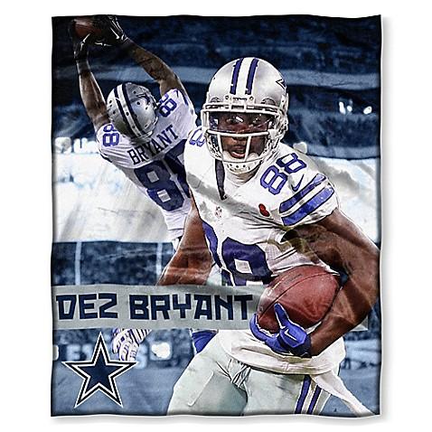 NFL Dallas Cowboys Dez Bryant Silk Touch Throw Blanket   Tuggl