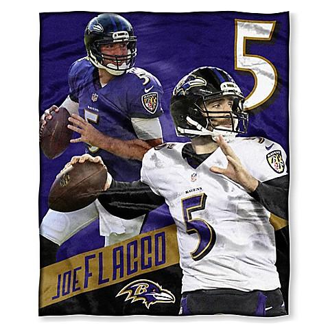 NFL Baltimore Ravens Joe Flacco Silk Touch Throw Blanket   Tuggl