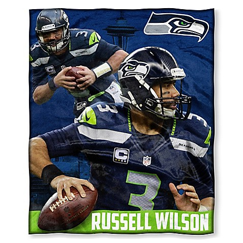 NFL Seattle Seahawks Russell Wilson Silk Touch Throw Blanket   Tuggl