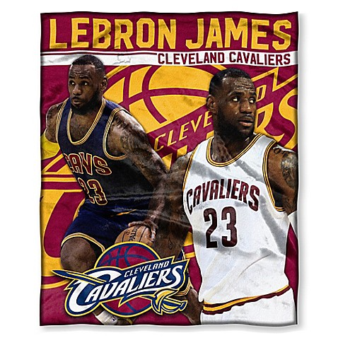 NBA Cleveland Cavaliers Lebron James Silk Touch Throw Blanket   Tuggl