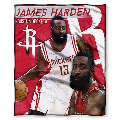 NBA Houston Rockets James Harden Silk Touch Throw Blanket   Tuggl