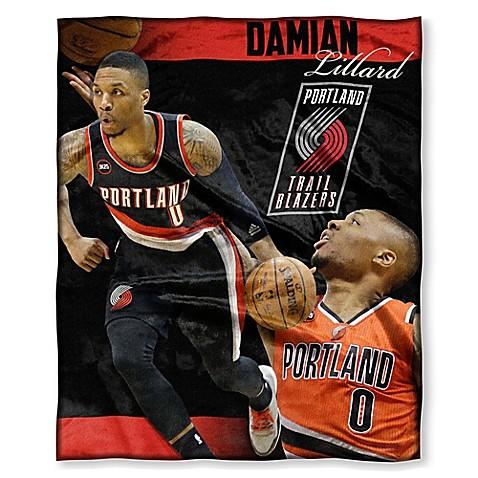 NBA Portland Trail Blazers Damian Lillard Silk Touch Throw Blanket   Tuggl