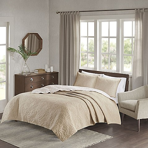 Chic Home Grand Isle Reversible Coverlet Set at Bed Bath & Beyond in Cypress, TX | Tuggl