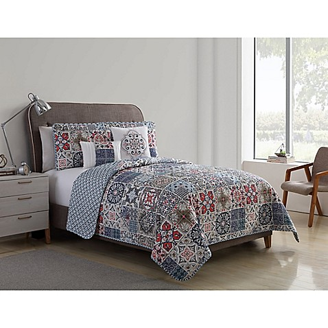VCNY Home Azure Reversible Quilt Set at Bed Bath & Beyond in Cypress, TX | Tuggl