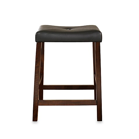 Buy Crosley Upholstered 24 Inch Saddle Seat Barstools In