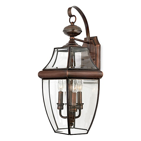 Buy QuoizelR Newbury 3 Light Outdoor Fixture With Aged