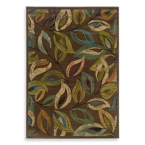 Oriental Weavers Emerson Area Rug In Multi Leaves Bed
