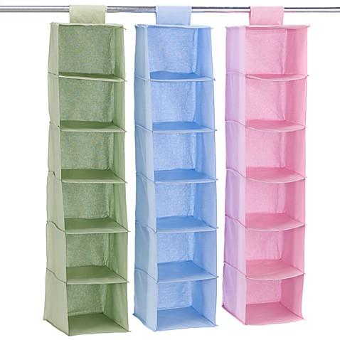 Hanging 6 Shelf Closet Organizer Bedbathandbeyond Com