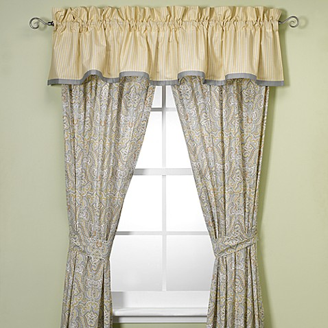 laura ashley berkley 84 inch window curtain panel pair. Black Bedroom Furniture Sets. Home Design Ideas