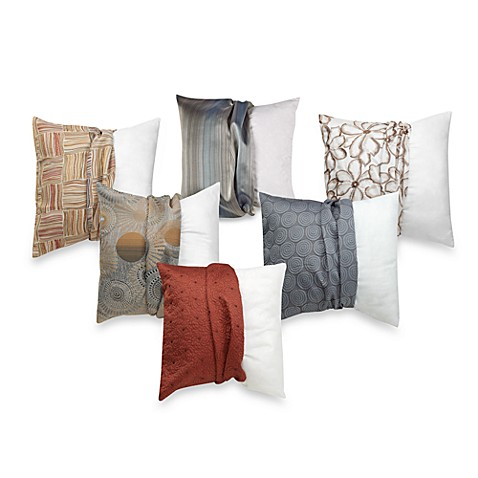 Throw Pillow Covers Bed Bath Beyond : Make-Your-Own-Pillow Square Throw Pillow Insert and Cover - Bed Bath & Beyond