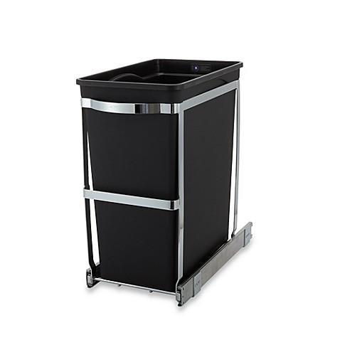 simplehuman commercial grade 30 liter pull out trash can bed bath beyond. Black Bedroom Furniture Sets. Home Design Ideas