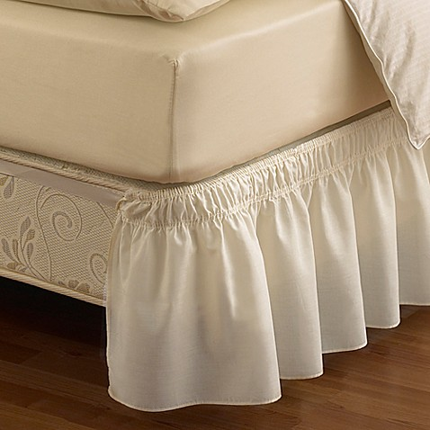 Ruffled Solid Adjustable Bed Skirt Bed Bath Amp Beyond