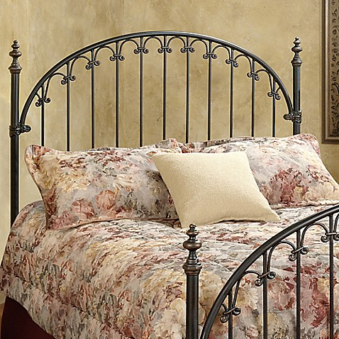 buy hillsdale kirkwell king headboard with rails from bed bath beyond. Black Bedroom Furniture Sets. Home Design Ideas