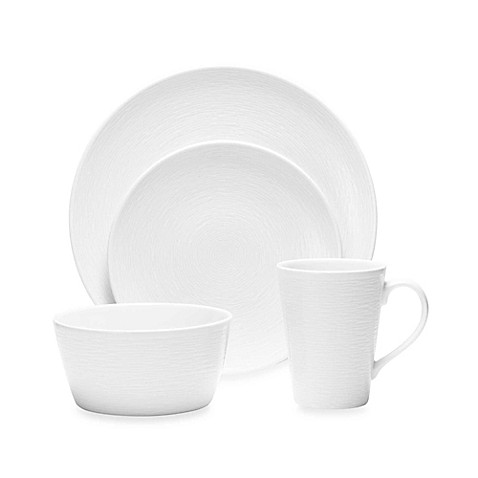 Noritake® White on White Swirl Round Dinnerware Collection at Bed Bath & Beyond in Cypress, TX | Tuggl