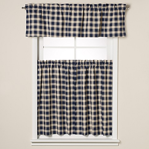 Country Check Window Curtain Tiers Bed Bath Beyond