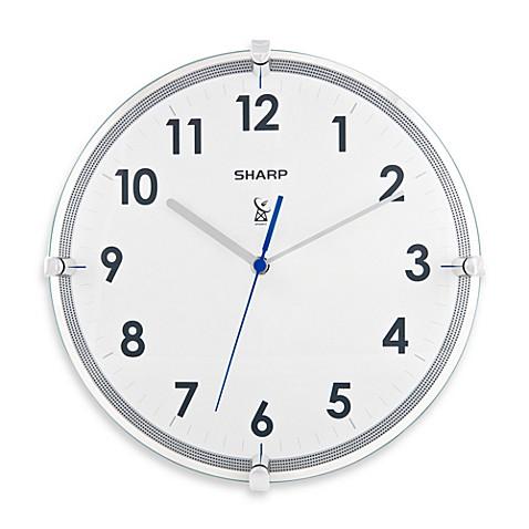 sharp 11 inch atomic wall clock