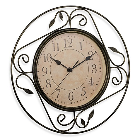 buy geneva wrought iron wall clock from bed bath beyond