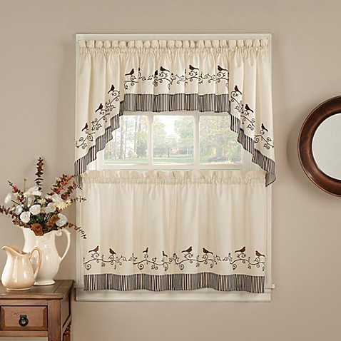 Buy birds window curtain swag valance from bed bath beyond - Swag valances for bathroom windows ...