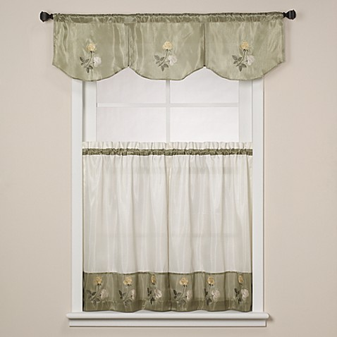 Rose Sage Window Curtain Tiers Bed Bath Beyond