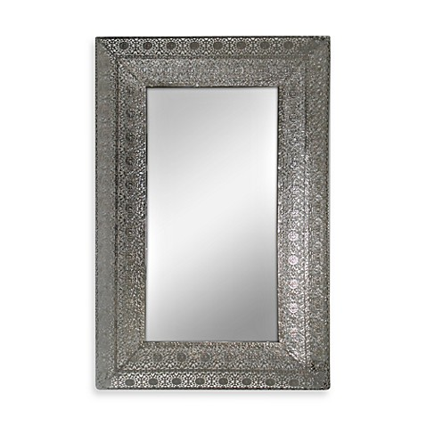 Buy Silver Nickel Metal Lace Mirror from Bed Bath & Beyond