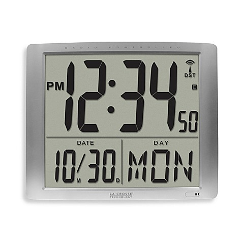 La crosse technology extra large atomic digital wall clock - Extra large digital wall clock ...