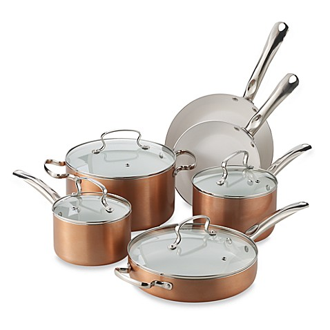 Buy Denmark 174 10 Piece Aluminum Cookware Set In Copper From