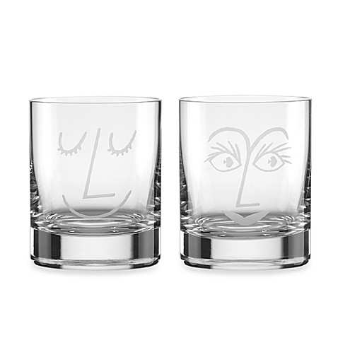 Kate spade new york two of a kind cocktail glasses set for Bed bath and beyond kate spade