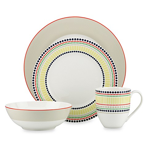 Kate spade new york hopscotch drive porcelain dinnerware for Bed bath and beyond kate spade
