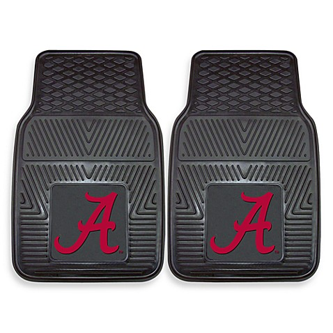 University Of Alabama Heavy Duty 2 Piece Vinyl Car Mat Set