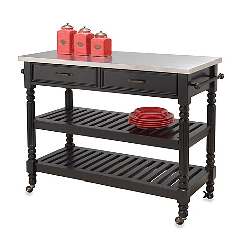 Buy Home Styles Savannah Kitchen Cart In Black From Bed