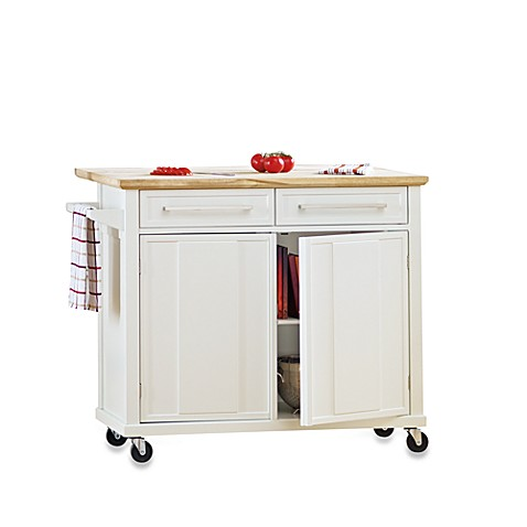real simple 174 rolling kitchen island bedbathandbeyond com