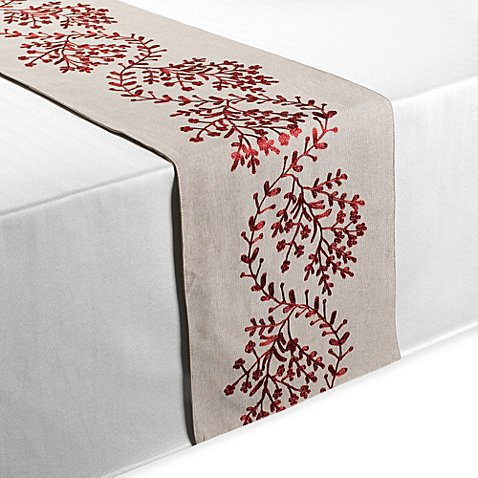 Salerno 100 cotton table runner bed bath beyond for 85 inch table runner
