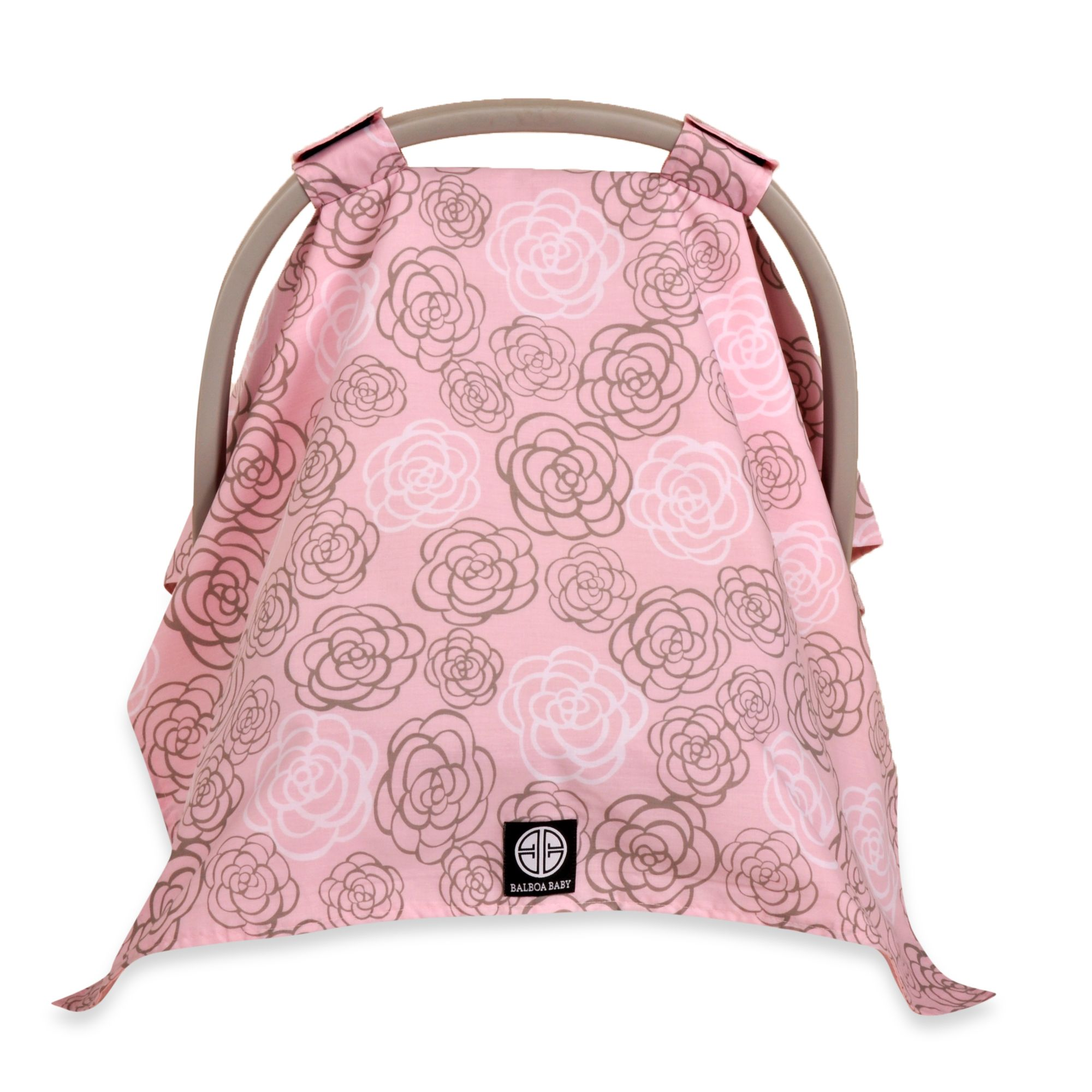 Balboa Baby® Car Seat Canopy in Pink/Grey Camellia