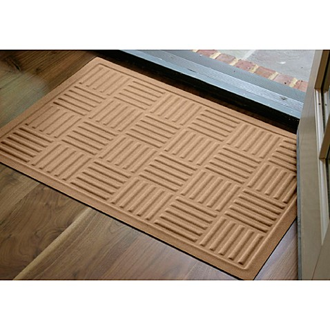 microfibre low profile parquet 2 foot x 3 foot door mat. Black Bedroom Furniture Sets. Home Design Ideas