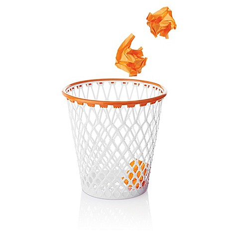 Spalding hoopster crunch time basketball net wastepaper basket bed bath beyond - Garbage can basketball hoop ...