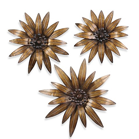 buy uttermost gazania 3 metal wall d 233 cor from bed bath beyond