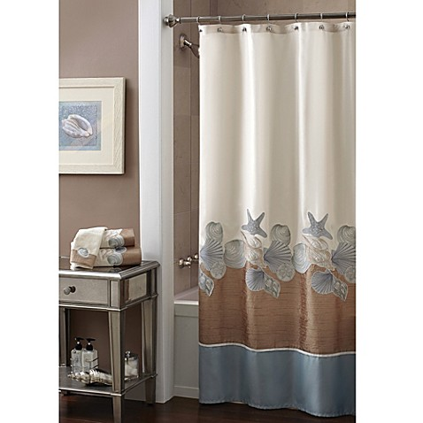 croscill shells ashore 70 inch x 72 inch shower curtain
