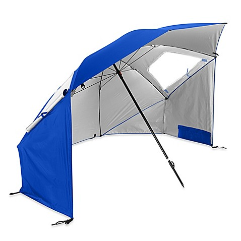 Sport Brella Super Brella Beach Umbrella In Blue Bed