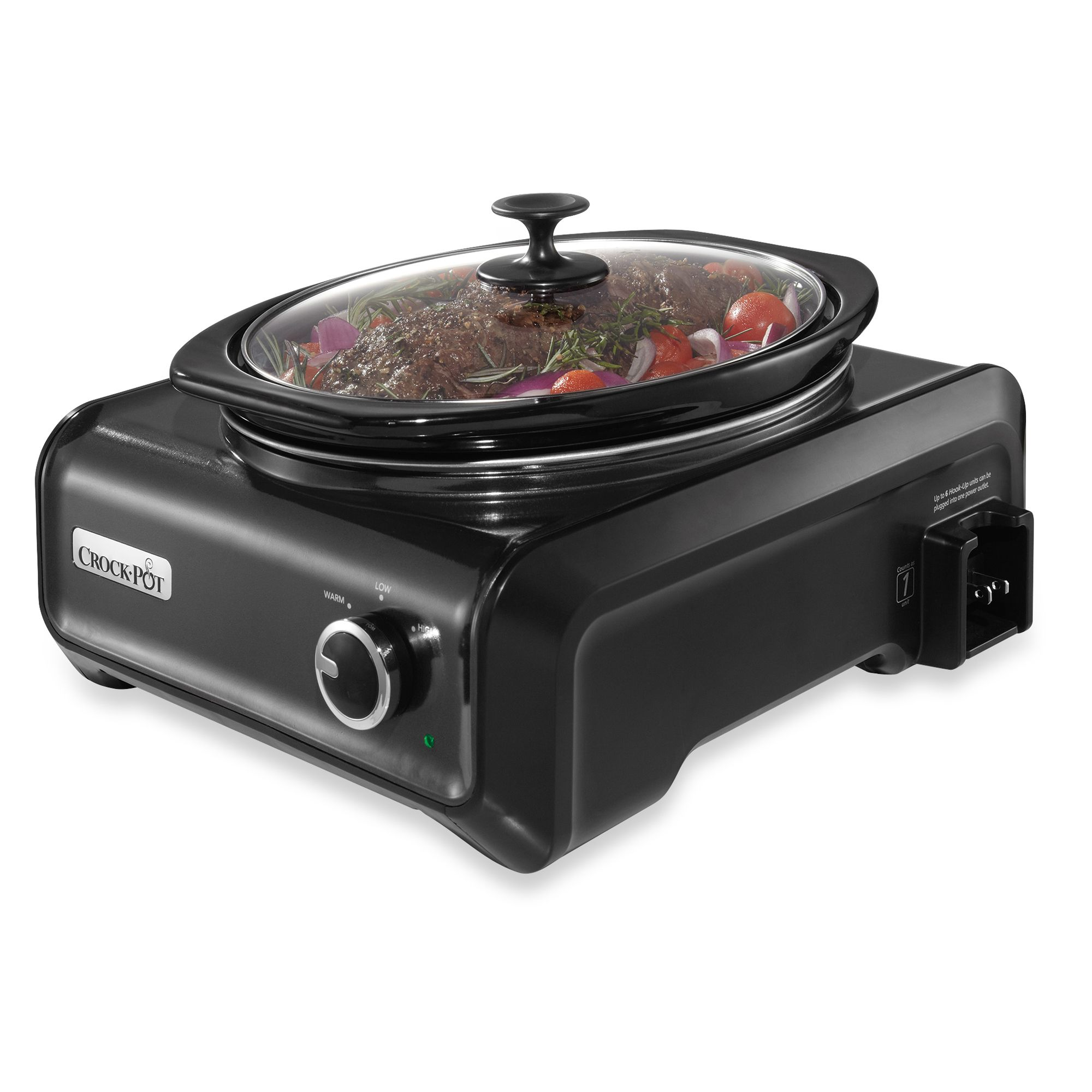 Crock-Pot® 3.5-Quart Oval Hook Up? Connectable Entertaining System in Charcoal