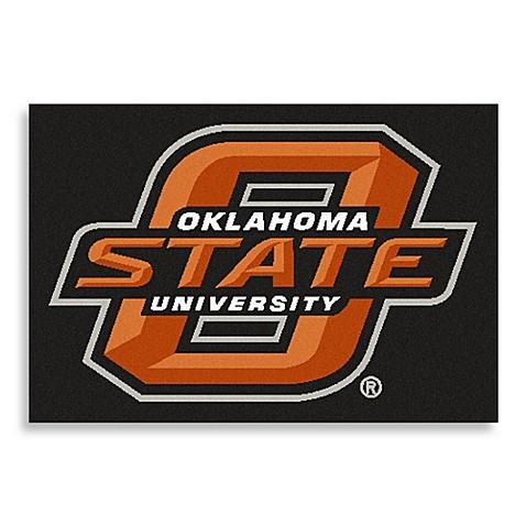 Oklahoma state university floor mat bed bath beyond for Parquet mat ou satine