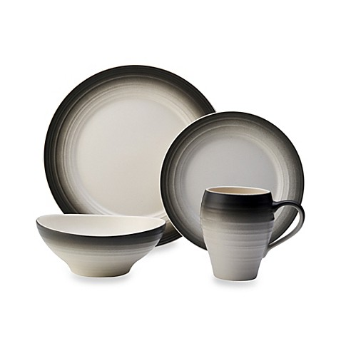 Mikasa® Swirl Ombre Dinnerware Collection in Graphite at Bed Bath & Beyond in Cypress, TX   Tuggl