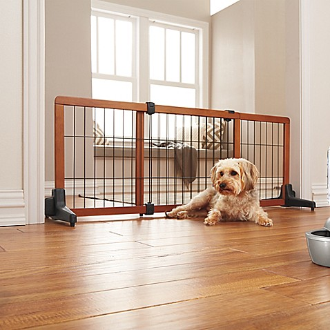 Carlson Freestanding Extra Wide Pet Gate Bed Bath Amp Beyond