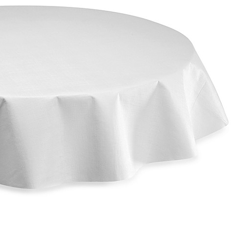 Buy Vinyl 52 Inch Round Table Pad In White From Bed Bath Amp Beyond