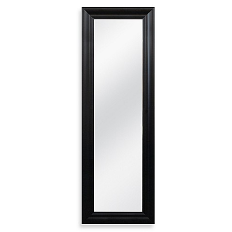 buy no tools over the door mirror in black from bed bath. Black Bedroom Furniture Sets. Home Design Ideas