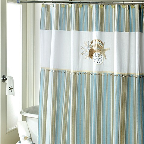 Avanti By The Sea 72 Inch X 72 Inch Shower Curtain Bed