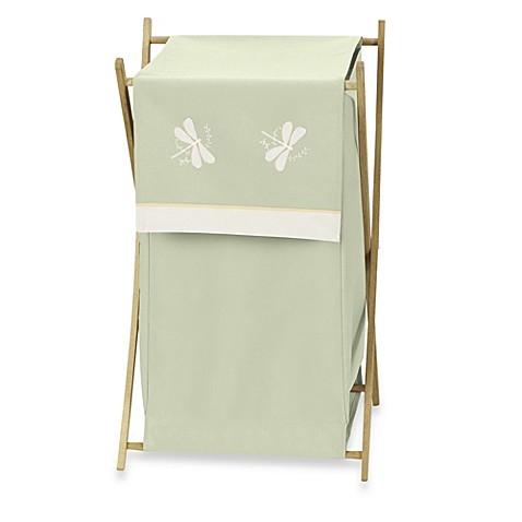 Buy sweet jojo designs dragonfly dreams laundry hamper in green from