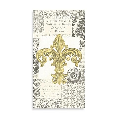 Fleur de lis gold paper guest towels set of 16 bed bath beyond - Fleur de lis bath towels ...